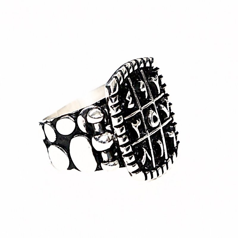 Kişiye Özel Müselles / Vefk Gümüş Yüzük (Model 2)