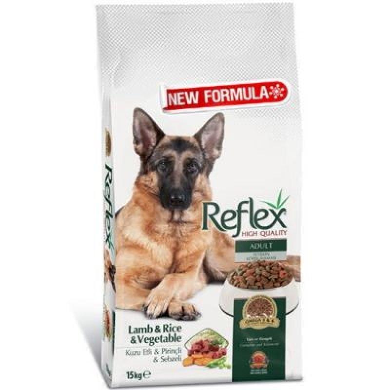 Reflex Kuzu Etli & Pirinçli & Sebzeli Yetişkin Köpek Maması 15 kg