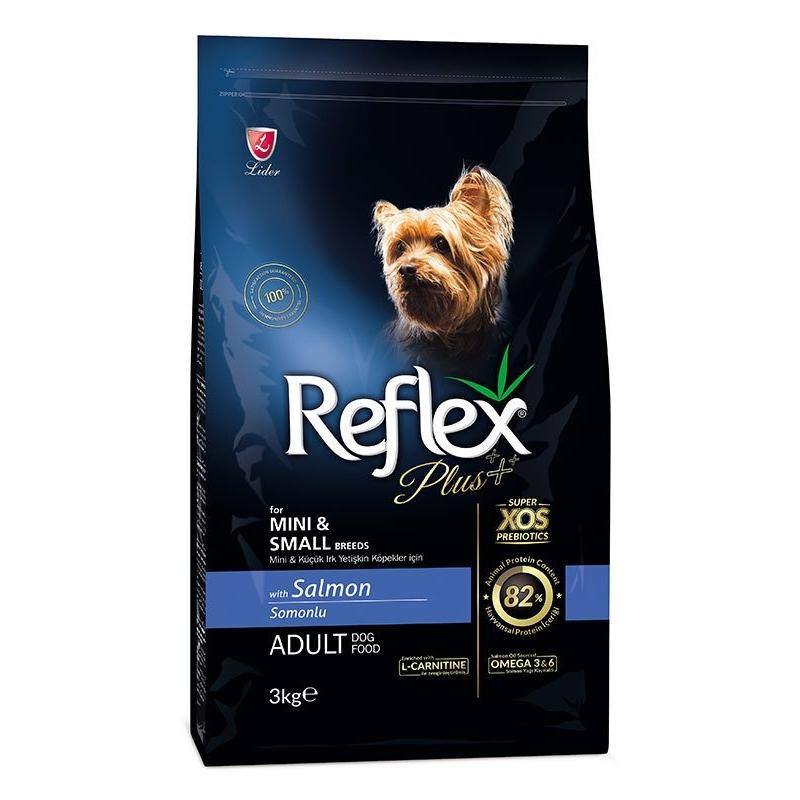 Reflex Plus Somonlu Mini & Küçük Irk Yetişkin Köpek Maması 3 Kg
