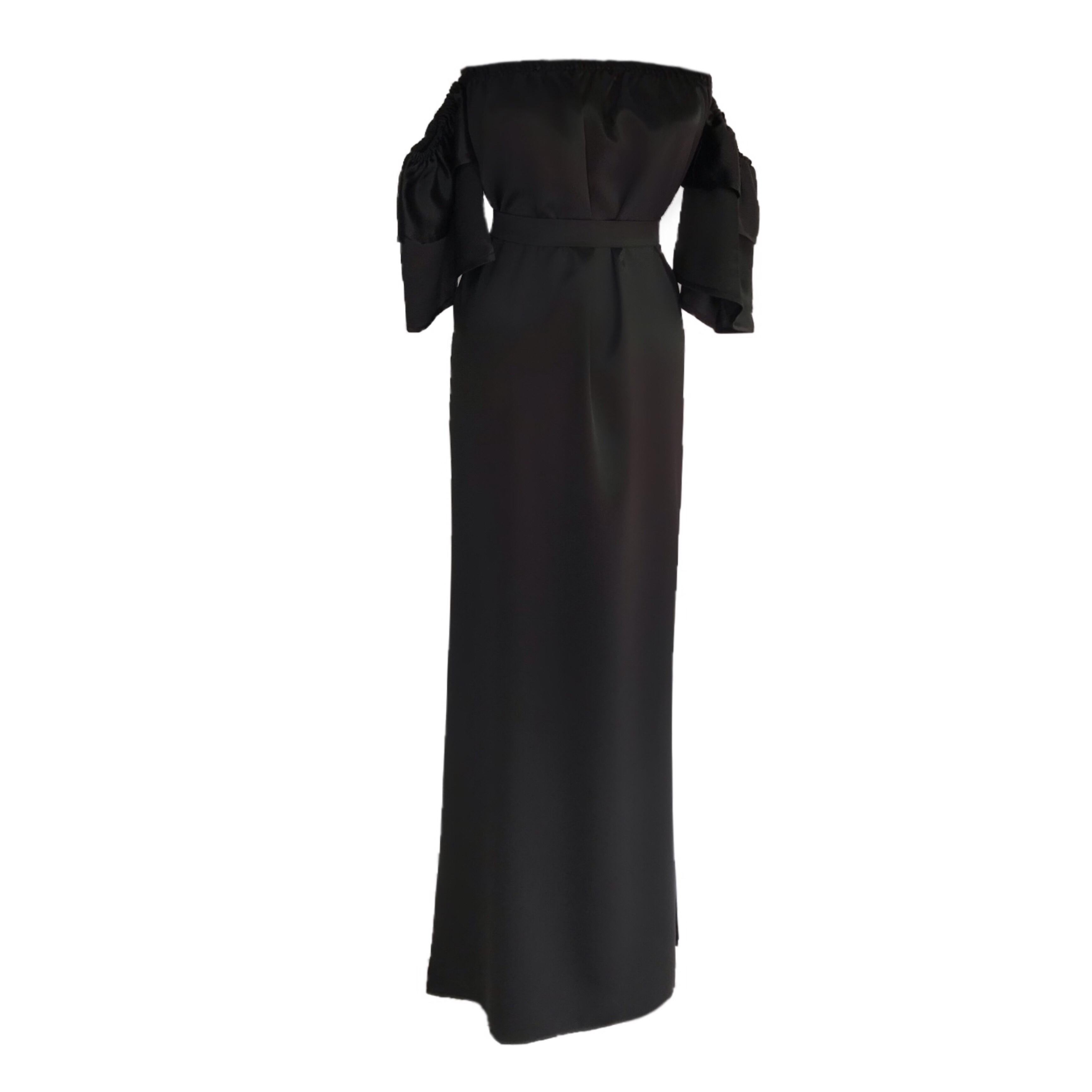 DIDEMΛYDIN Siyah Saten Elbise