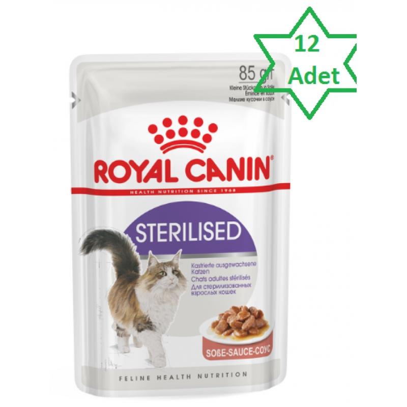 Royal Canin Sterilised Gravy Kısırlaştırılmış Kedi Konserve Maması 12 x 85 Gr