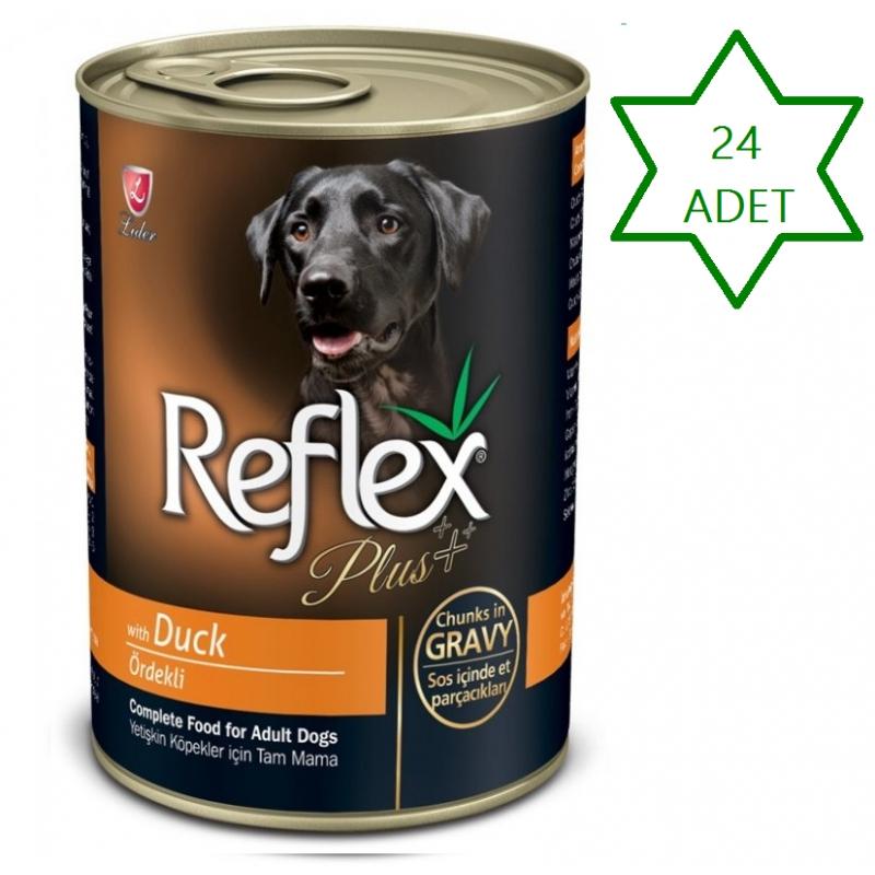 Reflex Plus Ördekli Parça Etli Köpek Konservesi 400 Gr x 24