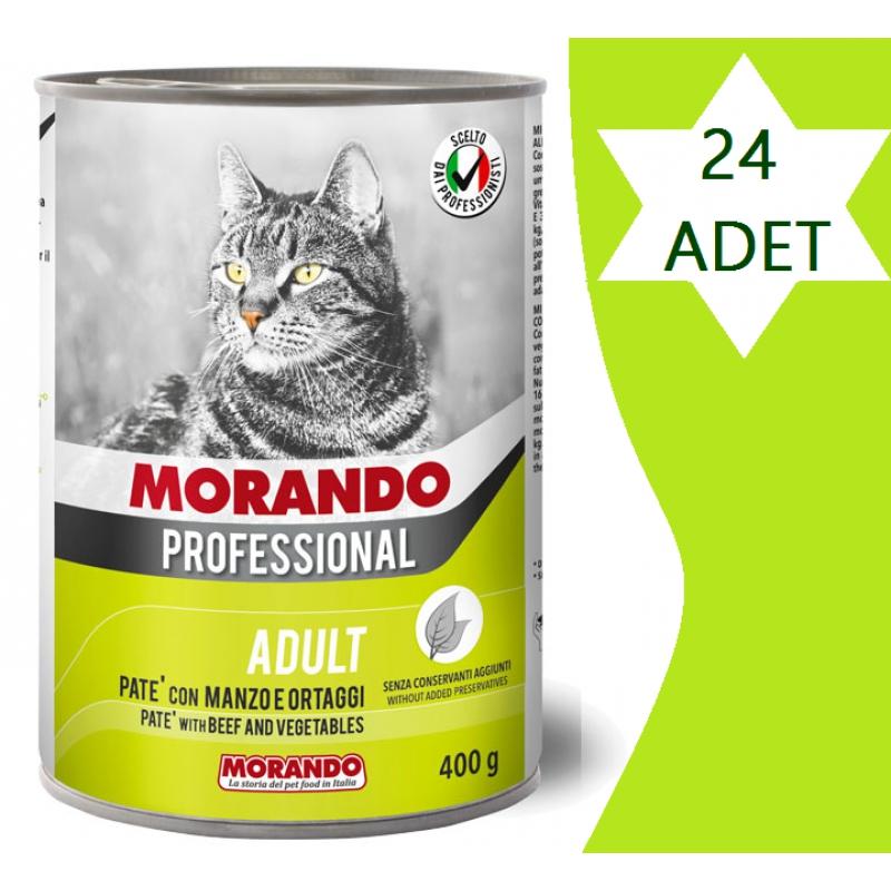 Morando Biftekli & Sebzeli Pate Kedi Konserve 405 Gr x 24