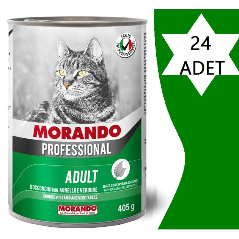 Morando Kuzulu & Sebzeli Parça Etli Kedi Konserve x 24