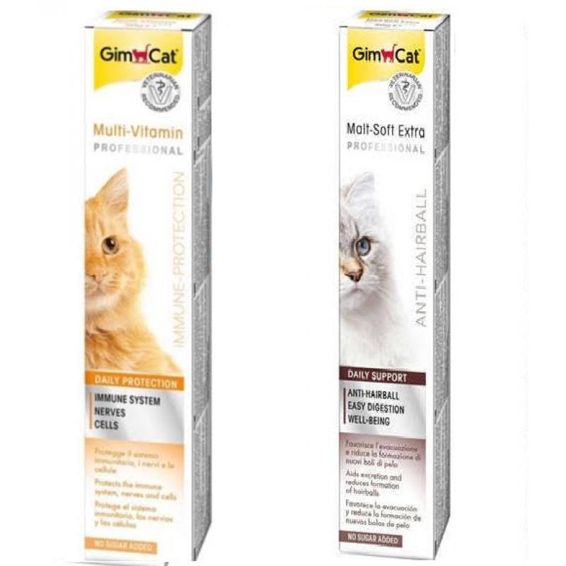 Gimcat Malt Soft Extra & Multivitamin Paste Mix