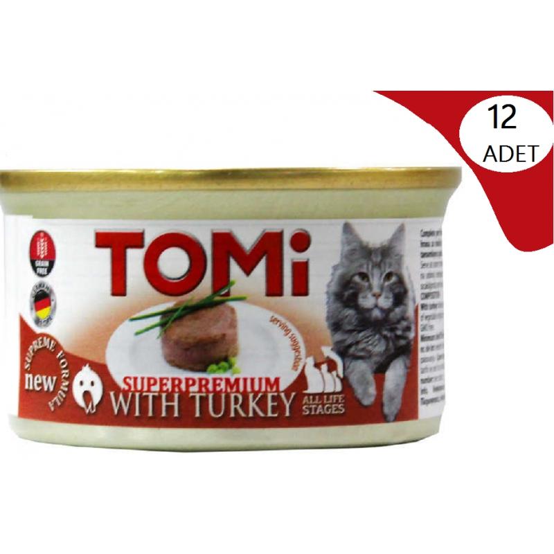 Tomi Tahılsız Hindili Kedi Konservesi 85 Gr x 12