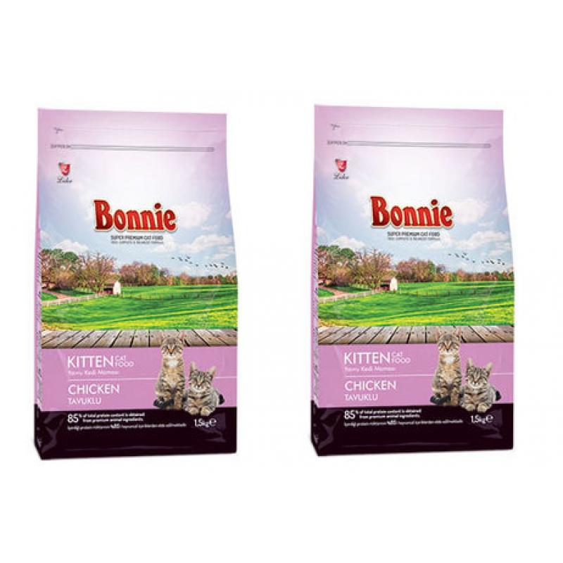 Bonnie Yavru Kedi Maması Tavuklu 1,5 Kg x 2