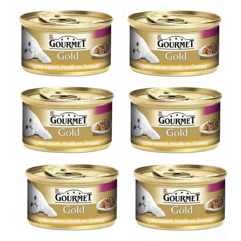 Gourmet Gold Hindili Ördekli Kedi Konservesi 85 Gr x 6