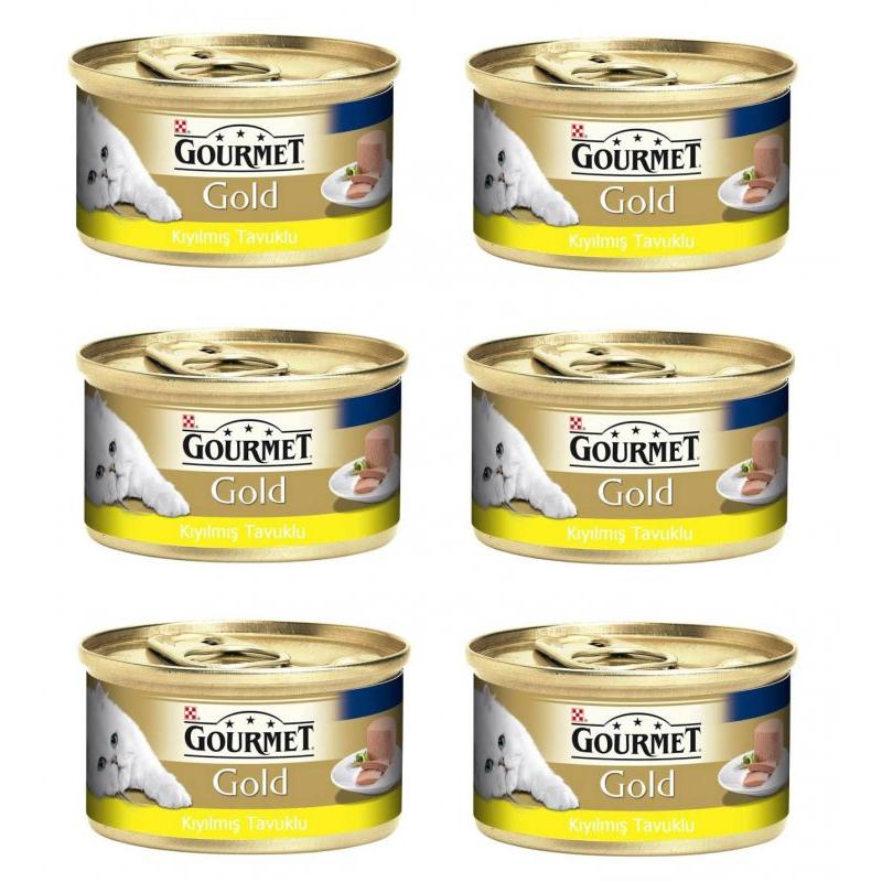 Gourmet Gold Kıyılmış Tavuklu Kedi Konservesi 85 Gr x 6