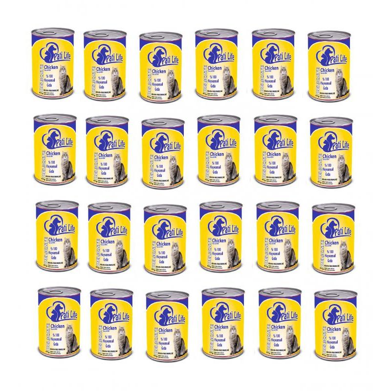Pati Life Chicken Tavuk Etli Yetişkin Kedi Konservesi 415 Gr x 24 Adet