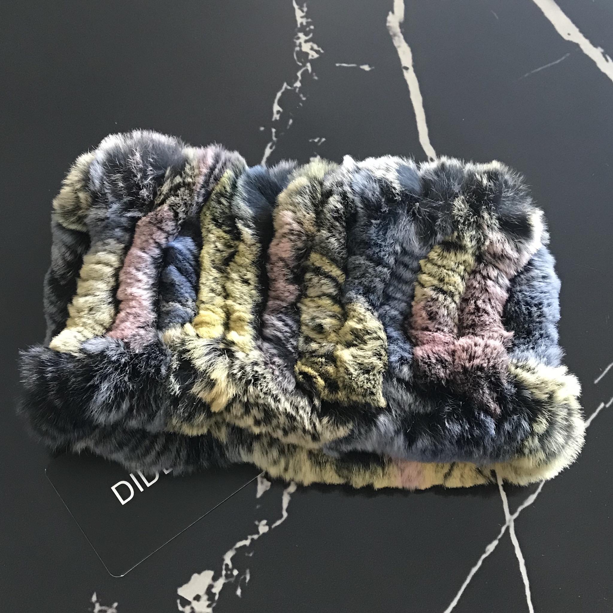 DIDEMΛYDIN Rex Kürk Renkli Saç Bandı 3